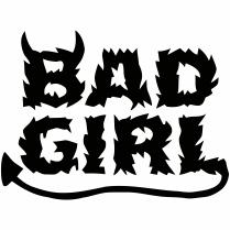 Bad girl női póló egyedi felirattal, egy igazán ördögi nőnek !